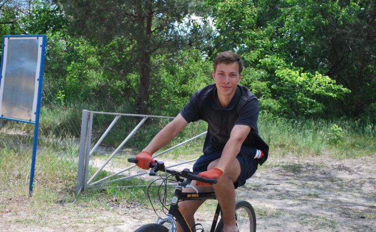 Riding bikes at Kompas Park